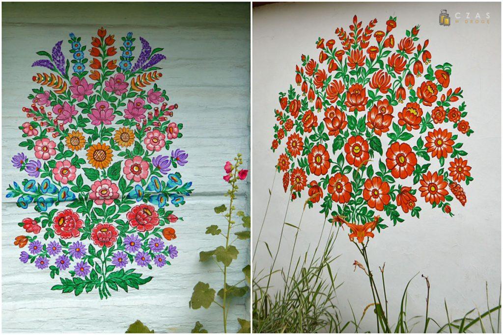 Kwiatowe motywy malowideł