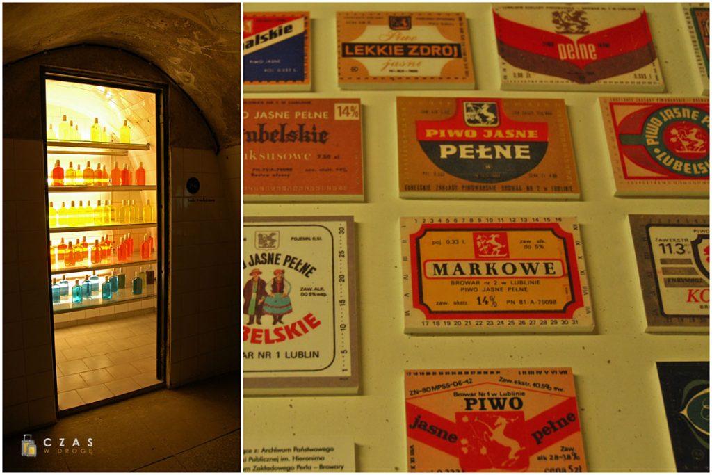 Szafa trwałościowa / Dawne etykiety piw pochodzących z browaru