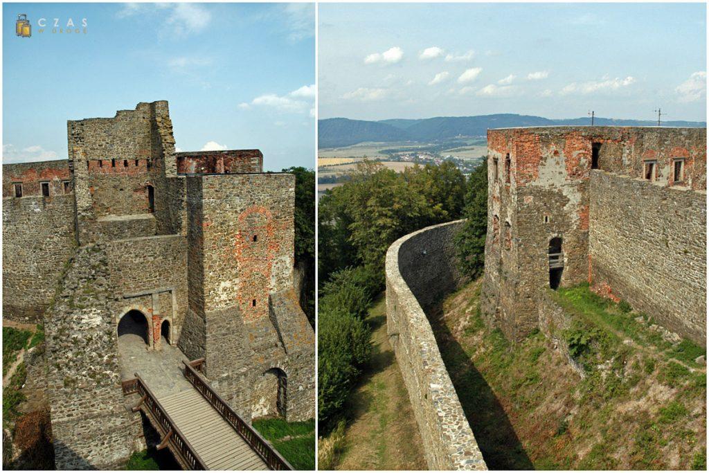 Najwyższa część zamku widziana z wieży widokowej