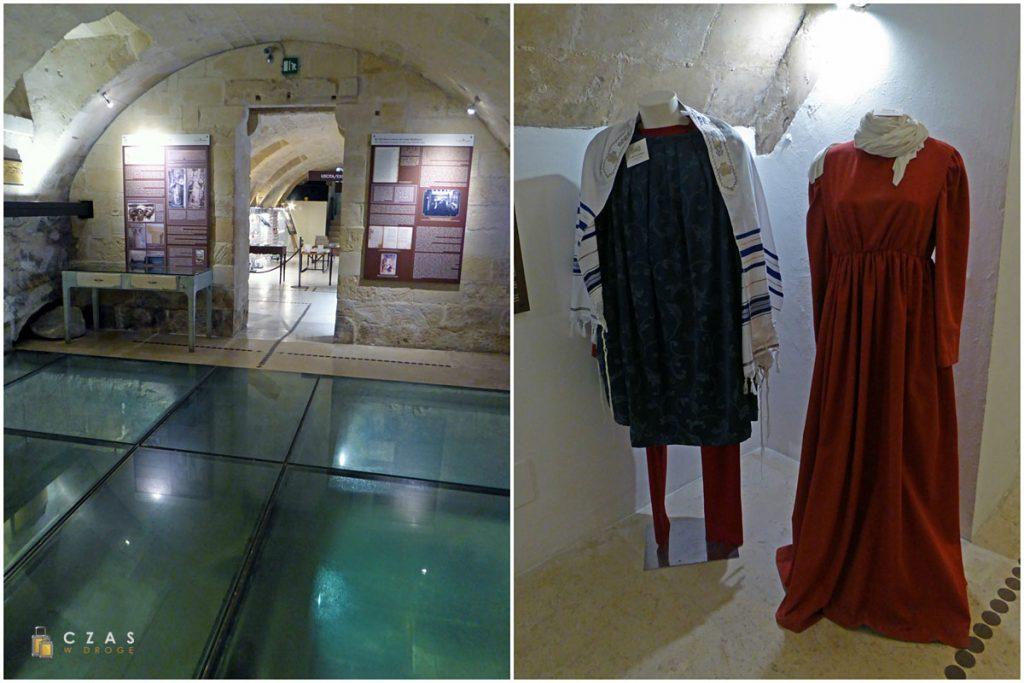 Palazzo Taurino - szersze spojrzenie na pozostałości mykw / repliki średniowiecznych strojów żydowskich