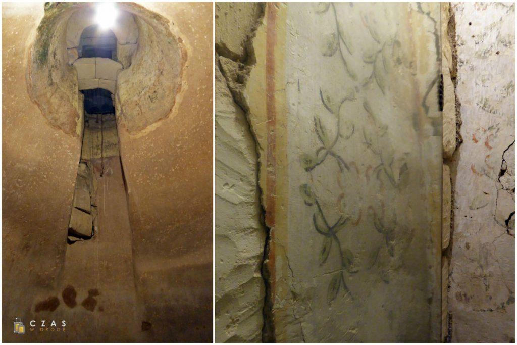 Museo Faggiano - wnętrze cysterny na wodę / pozostałości średniowiecznych malowideł ściennych