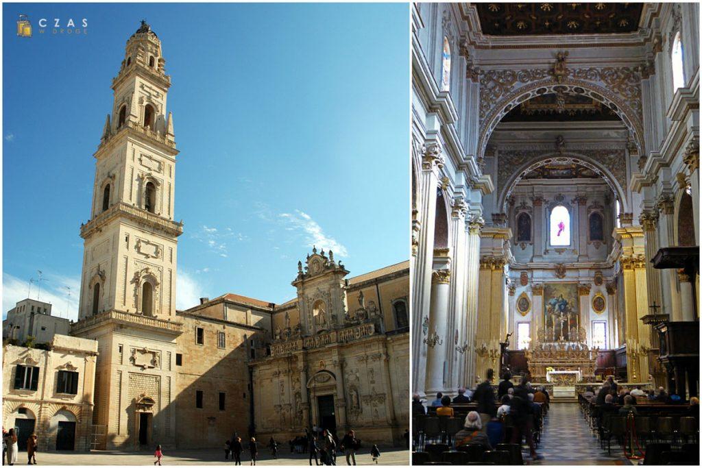 Katedralna dzwonnica w pełnej okazałości / Nawa główna katedry