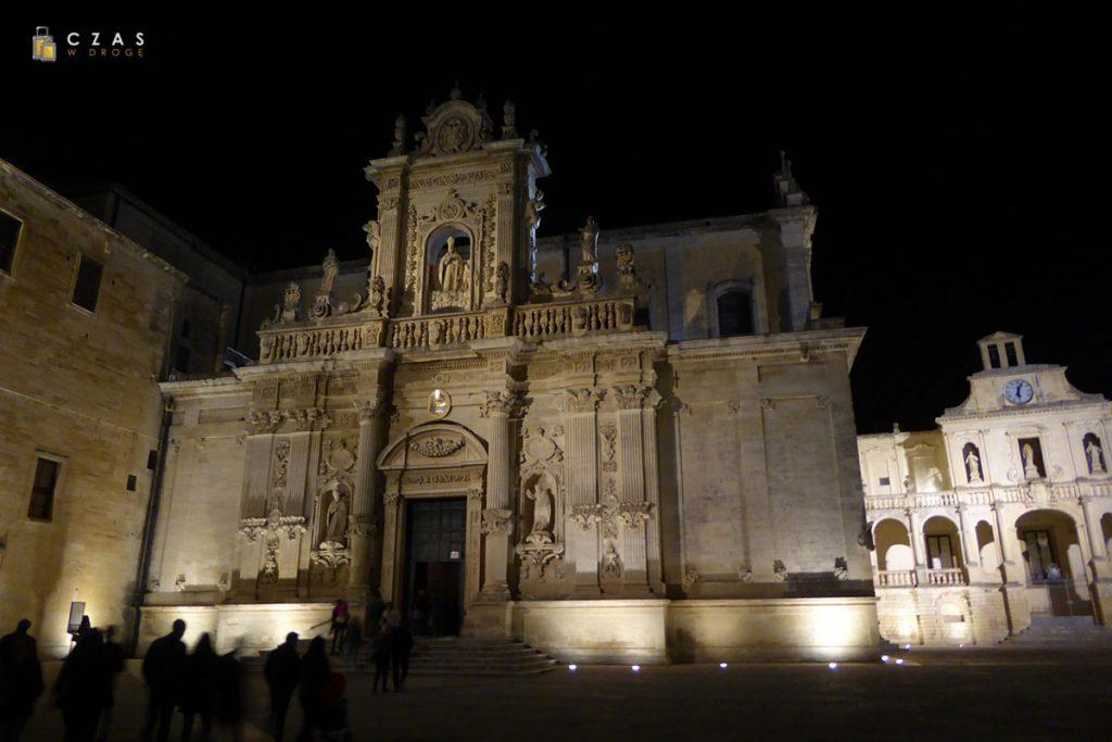 Katedra w Lecce wieczorową porą