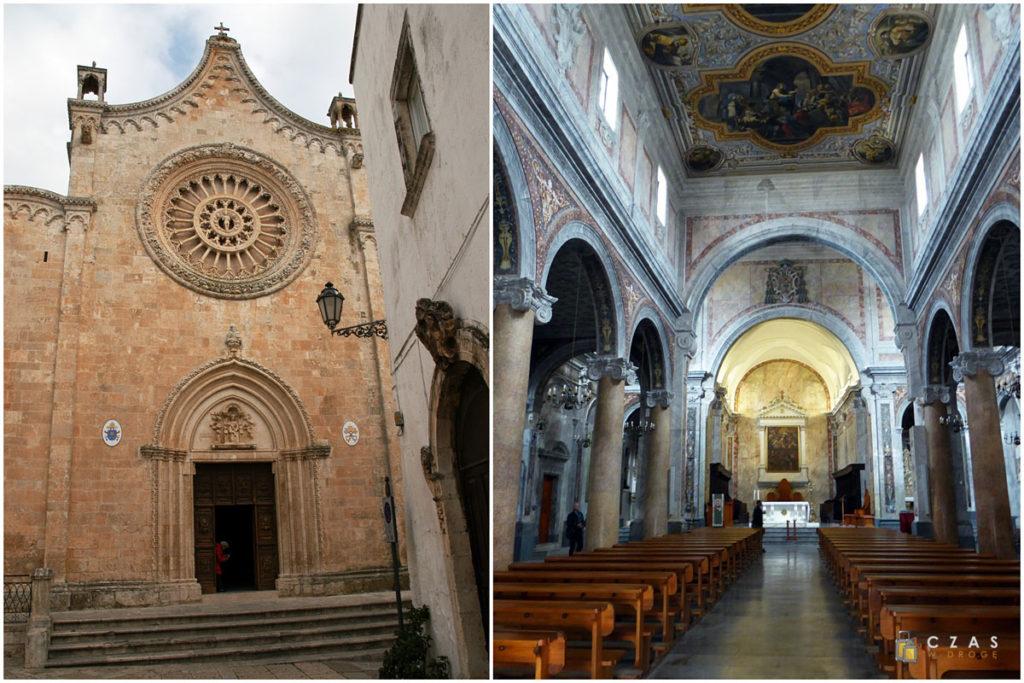Ostuni - katedra i jej wnętrze
