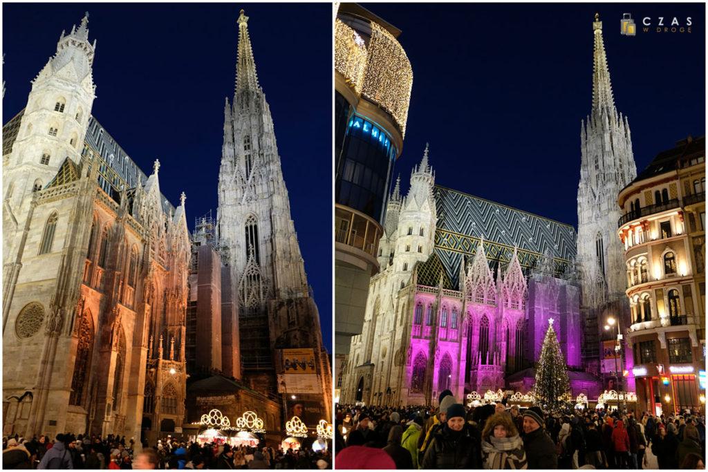 Katedra św. Stefana wieczorową porą