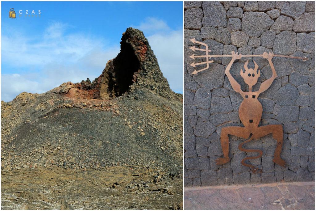 Timanfaya - Manto de la Virgen / Symbol parku - El Diablo