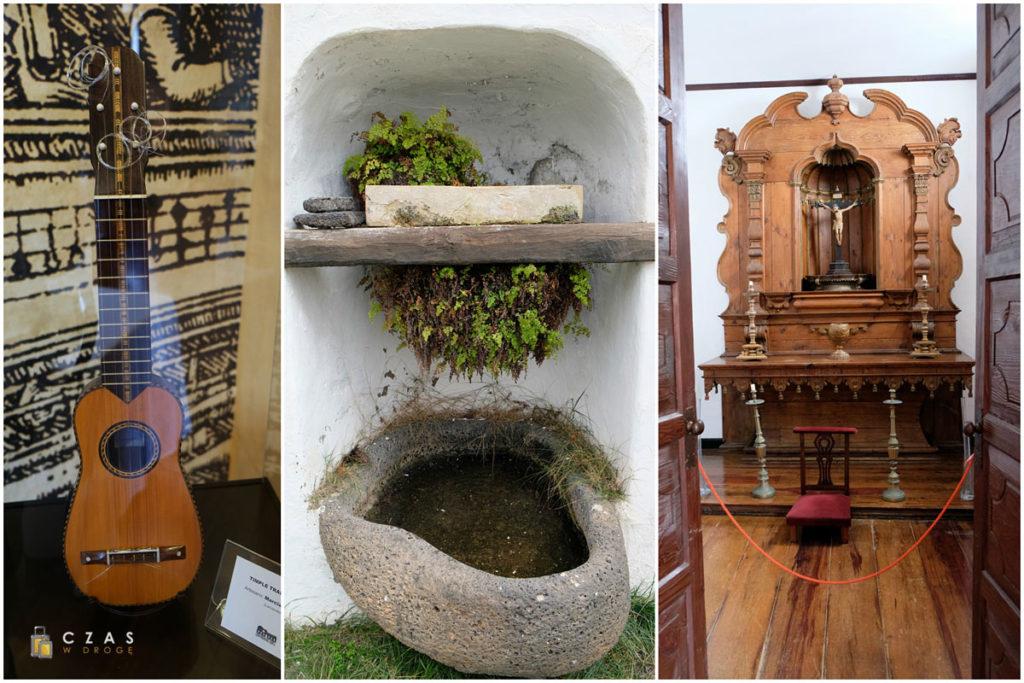 Fragmenty wystaw w Casa Museo Palacio Spínola