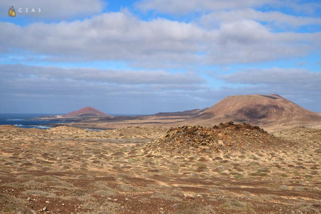 Graciosa widziana ze zboczy Montaña Amarilla