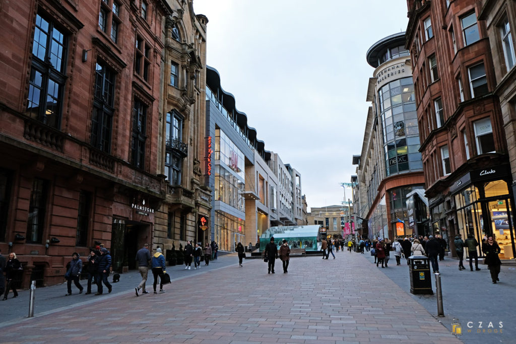 Główna handlowa ulica Glasgow - Buchanan Street