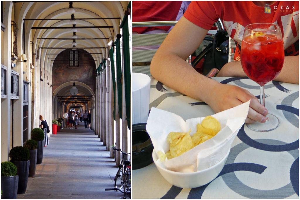 Arkady przy Piazza della Loggia / Kieliszek Pirlo wraz z nieodłącznym dodatkiem - chipsami