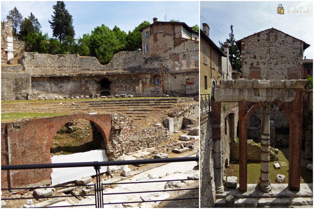 Fragmenty amfiteatru i okolicznych zabudowań wkomponowane w istniejącą tkankę miejską :)