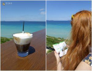 Widok z restauracji 7th Heaven przy plaży Logas
