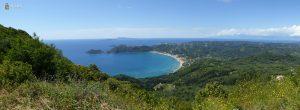 Panorama Korfu w okolicach Agios Georgios Pagon