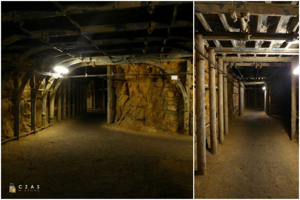 Podziemia Będzin - przebudowane korytarze bliżej wejścia