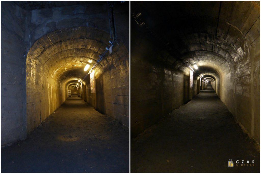 Podziemia Będzin - betonowe korytarze schronu