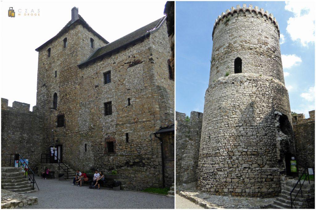Zamek Będzin - wieża i dziedziniec