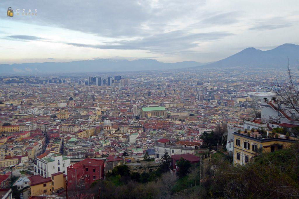 Widok na Neapol i Wezuwiusz