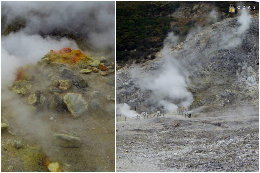 Naturalne wyziewy na terenie krateru