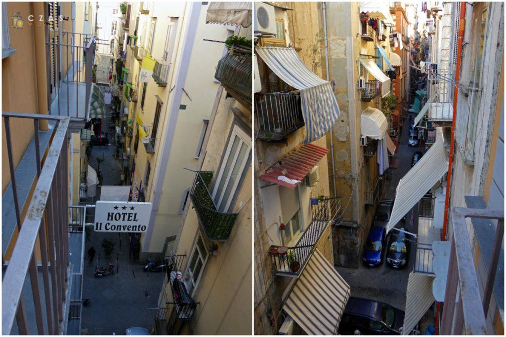 Wąskie uliczki Neapolu