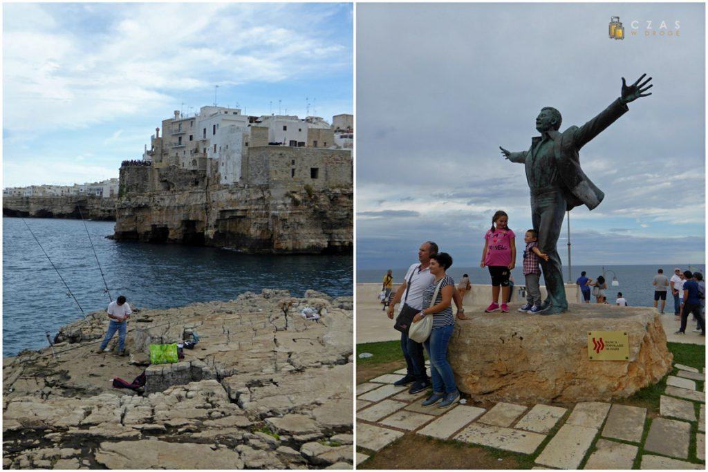 Łowiący ryby przy plaży / Pomnik Domenico Mudugno
