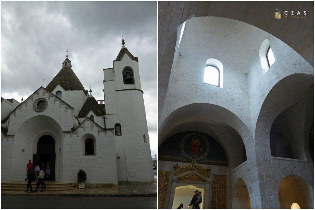 Jest i kościół stylizowany na trulli :)