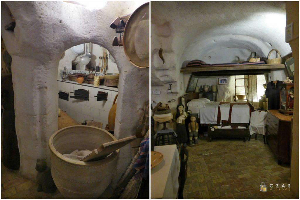 Wnętrze l'anitca Casa Grotta