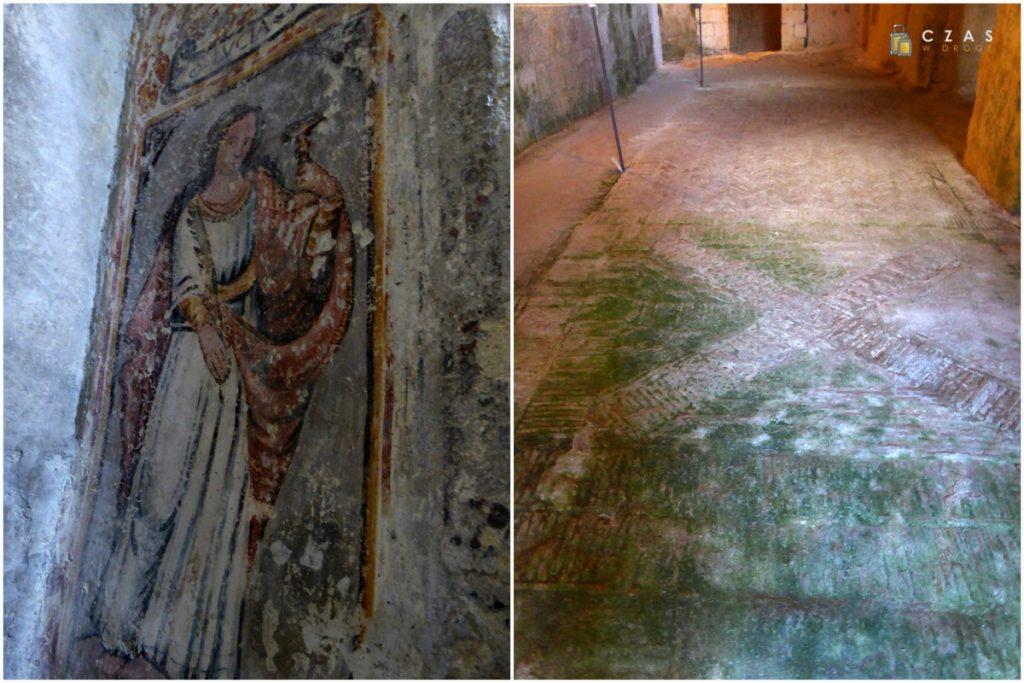 Historyczne malowidło św. Łucji / Podłoga datowana na V wiek nasze ery