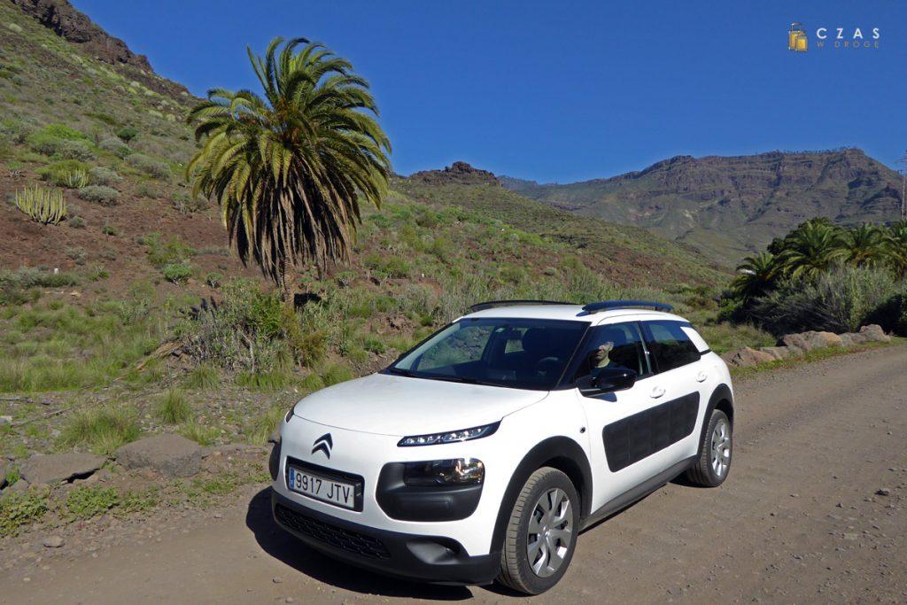 Nasz pojazd na trasie wiodącej przez Barranco Veneguera :)