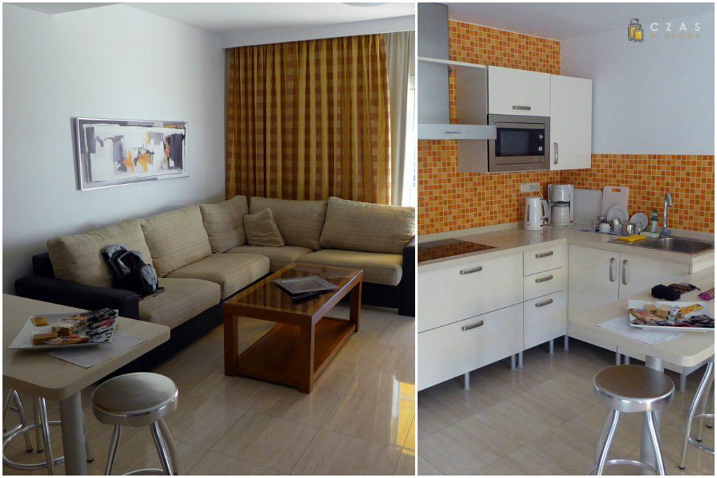 Rzut oka na wnętrze wynajętego apartamentu