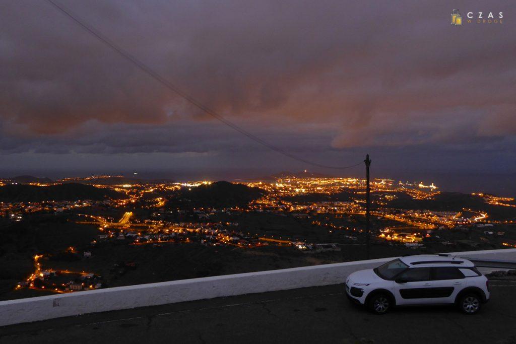 Wieczorna panorama z Pico de Bandama.
