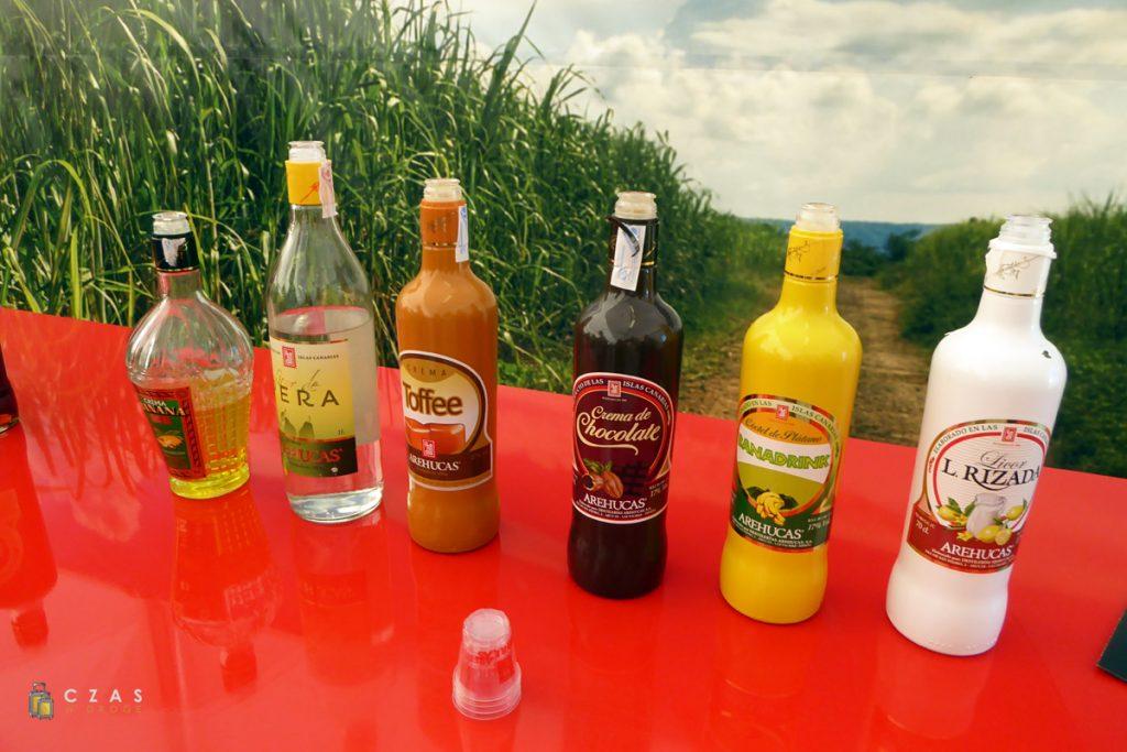 Część z alkoholi dostępnych do degustacji :)
