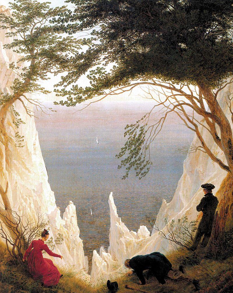 Caspar David Friedrich's - Klify kredowe na Rugii / Źródło: Wikipedia