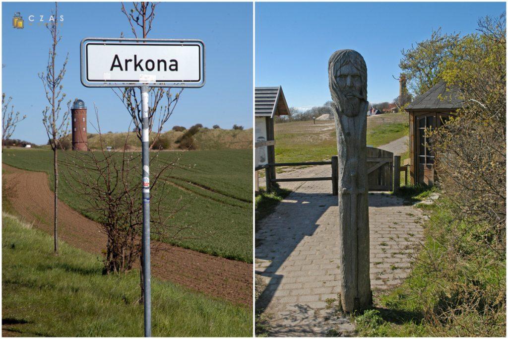 Zbliżamy się do Arkony / Słowiańsko stylizowany posąg