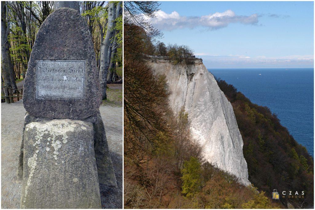 Obelisk przy Victoriasicht i widok na Königsstuhl.