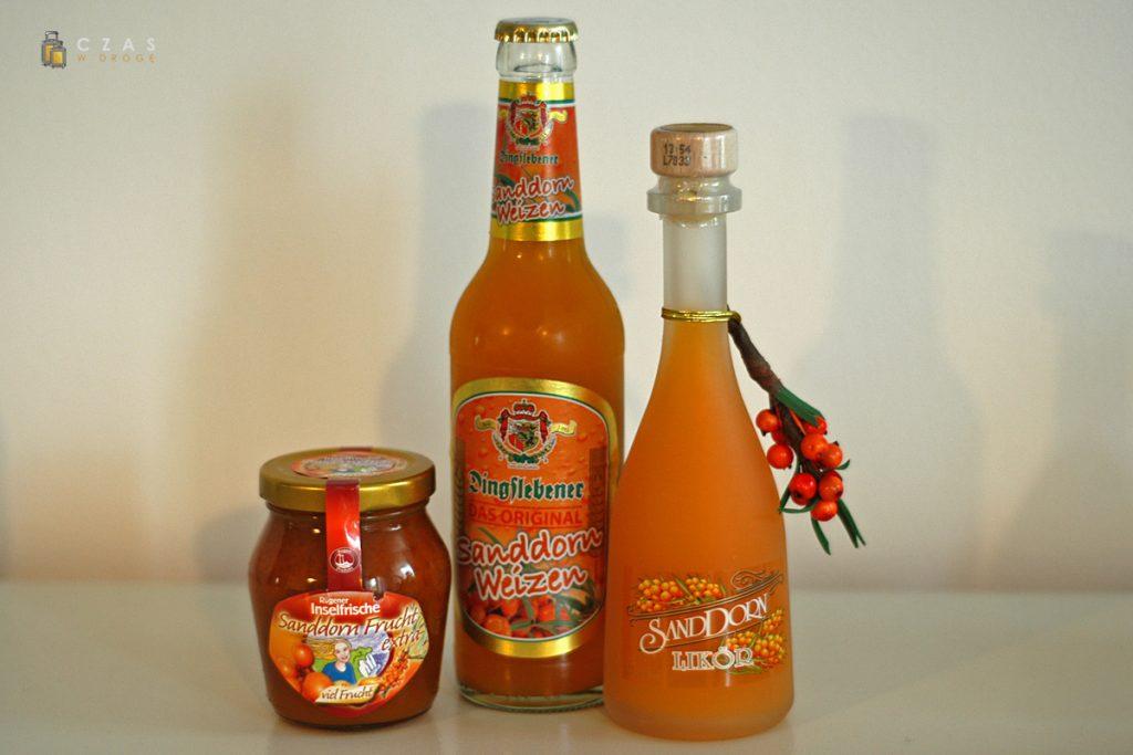 Produkty z rokitnika - dżem, piwo i likier
