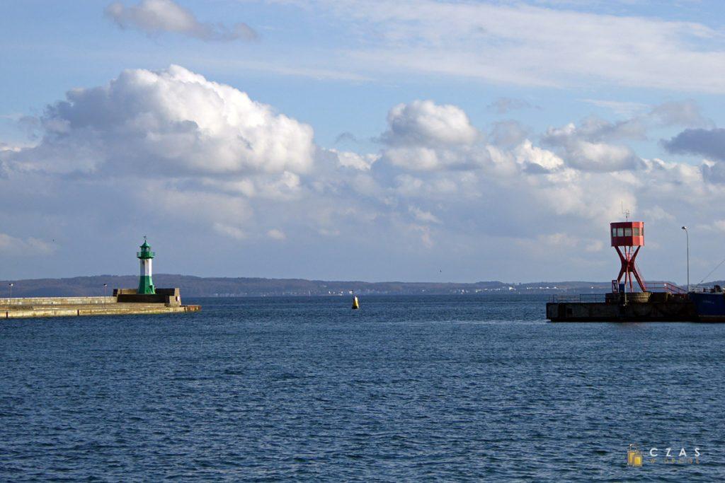 Latarnie u wyjścia z portu w Sassnitz