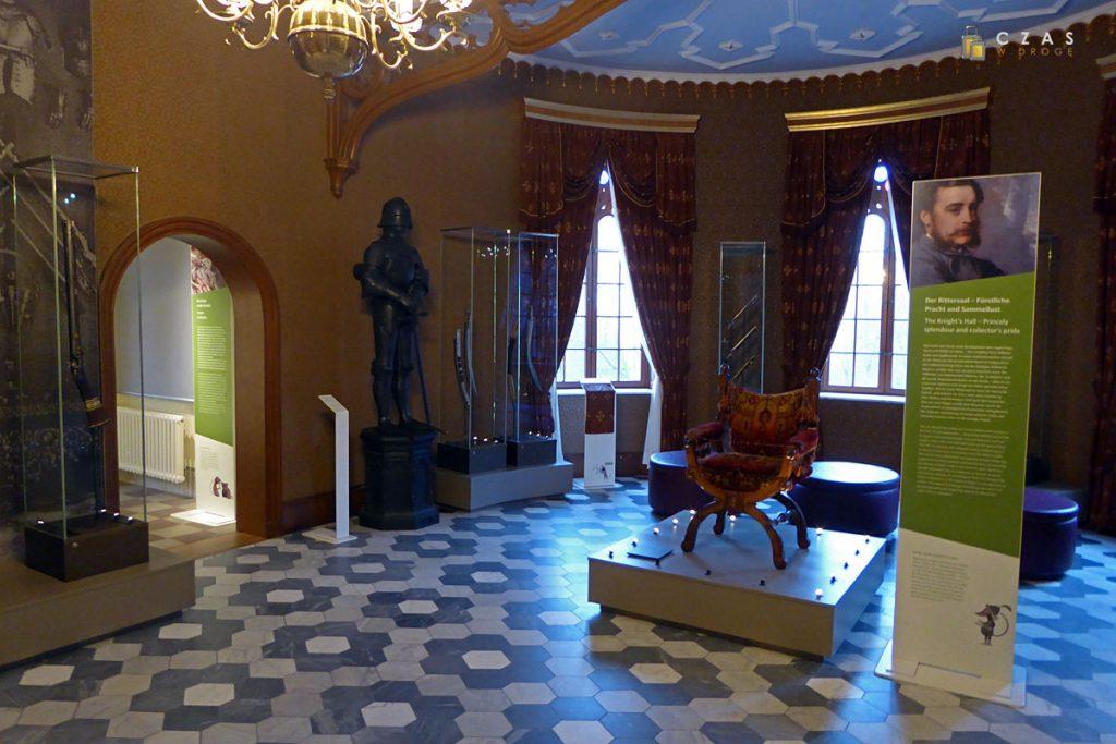 Wnętrza parteru zamku Granitz.