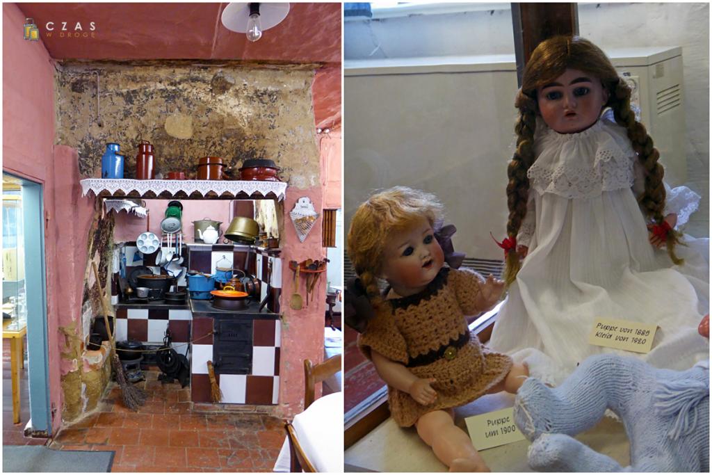 Zabytkowa kuchnia w budynku szkolnym / Zabytkowe zabawki