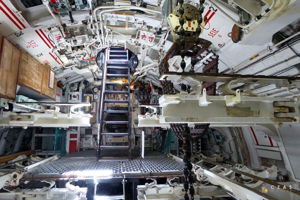 Wejście do wnętrza okrętu / Przedział torpedowy