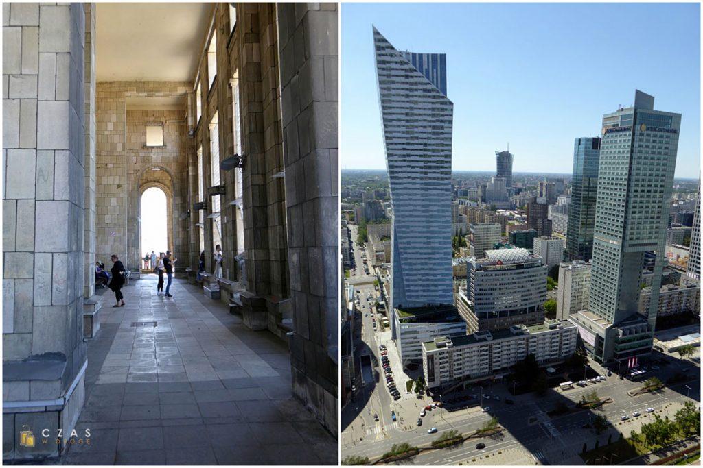 XXX-te piętro Pałacu Kultury i Nauki - taras widokowy i widok z niego