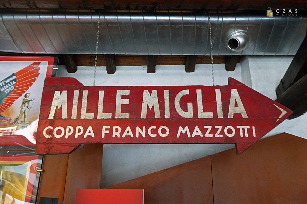 Oryginalne oznakowanie Mille Miglia