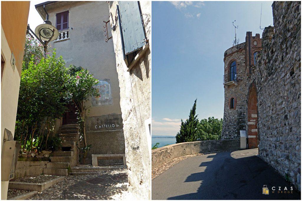 Uliczka prowadząca na zamek / Zamek w Desenzano