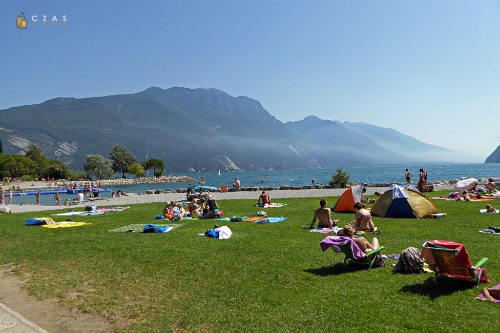 Plaża Sabbioni w Riva del Garda