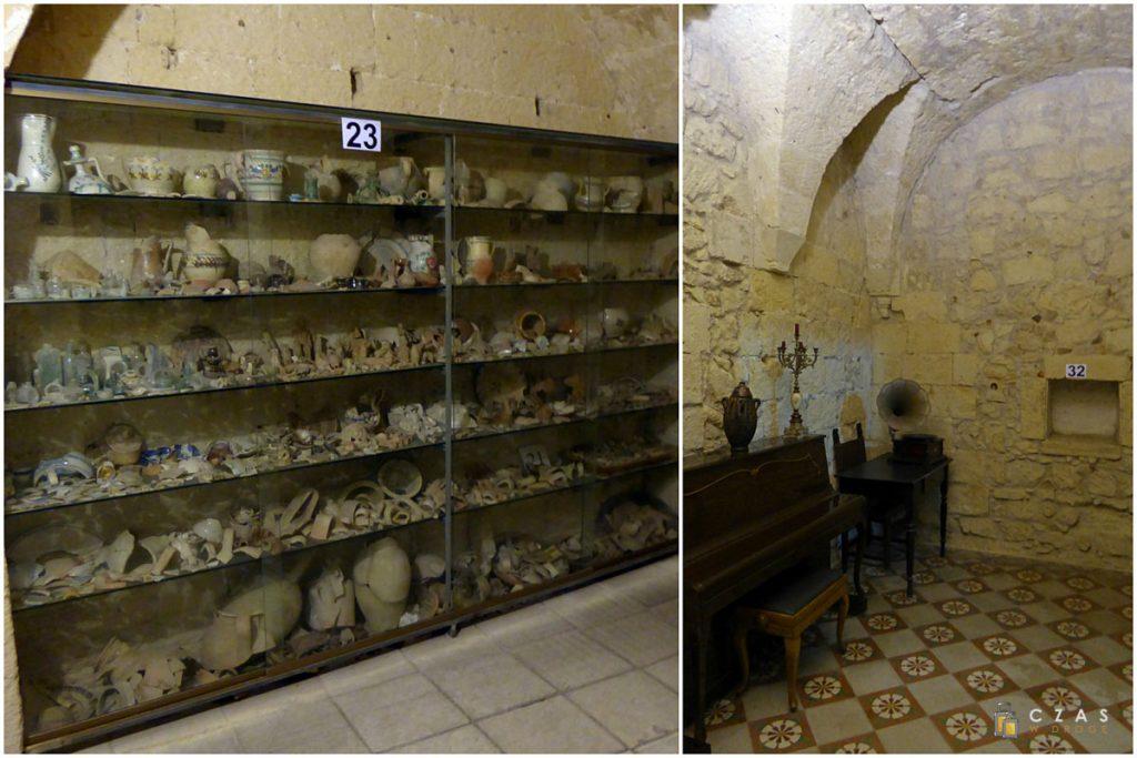 Museo Faggiano - pozostałości po wykopaliskach / byłe cele klasztorne