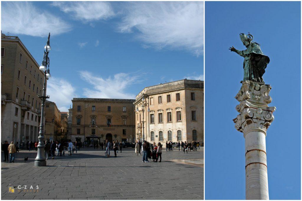 Północna część Piazza Sant'Oronzo / Św. Oronzo spogląda ze szczytu kolumny :)