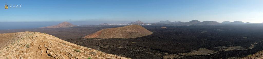 Panorama okolicy widziana z Caldera Blanca