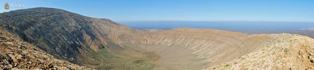 Panorama wnętrza Caldera Blanca