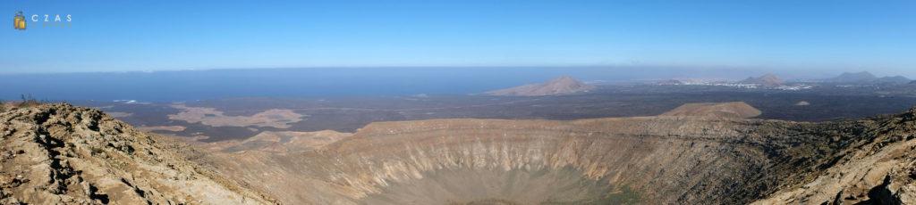 Panorama z najwyższego punktu Caldera Blanca