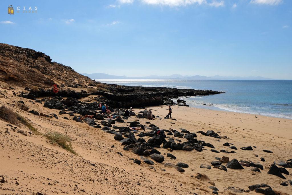 Widok na Lanzarote z Playa Montaña Amarilla