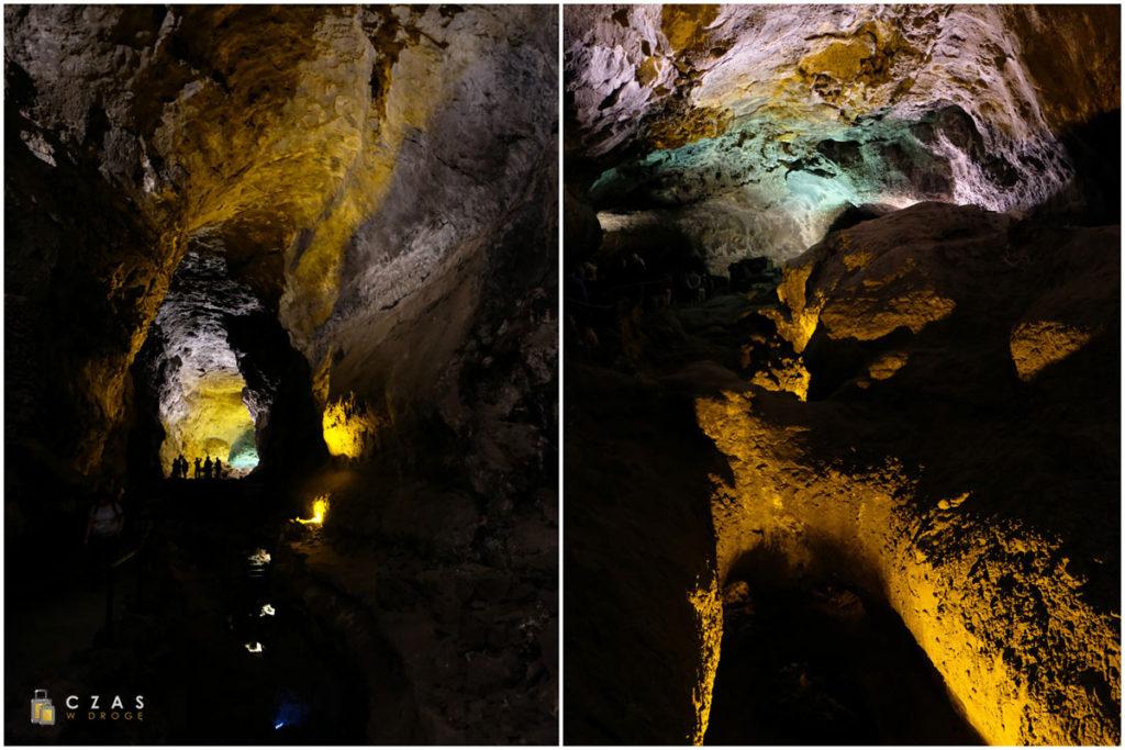 Wnętrze tuneli Cueva de Los Verdes